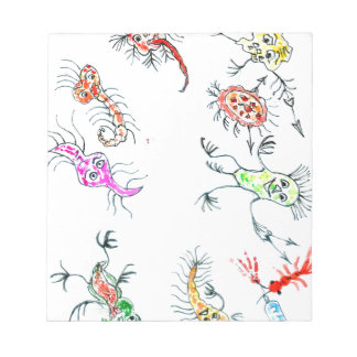 Cute Painted Viruses2 Notepad