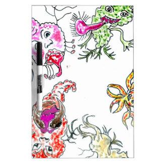 Cute Painted Viruses Dry Erase Board
