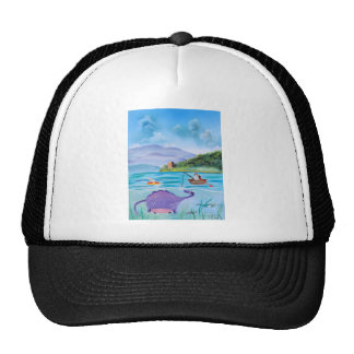 Cute painting of the Loch Ness monster Trucker Hat
