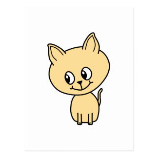 Cute Pale Amber Kitten. Postcard