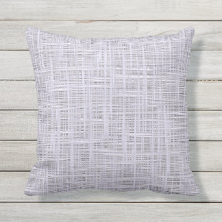 Cute Pale Lavender Violet Faux Jute Fabric Pattern Throw Pillow