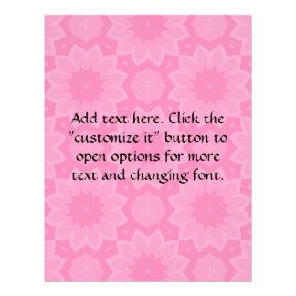 Cute pale pink floral kaleidoscope flyer