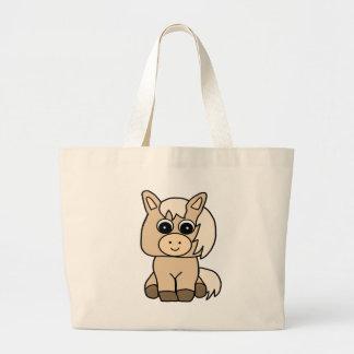 Cute Palomino Horse Large Tote Bag