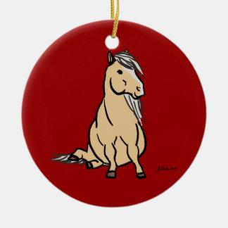 Cute Palomino Pony Ceramic Ornament