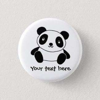 Cute Panda 1 Inch Round Button