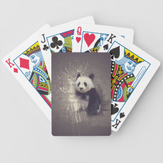 Cute Panda Abstract Bicycle Playing Cards