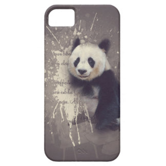 Cute Panda Abstract Case For The iPhone 5