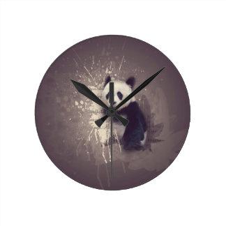 Cute Panda Abstract Clocks
