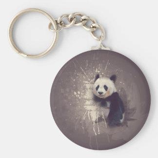 Cute Panda Abstract Keychain