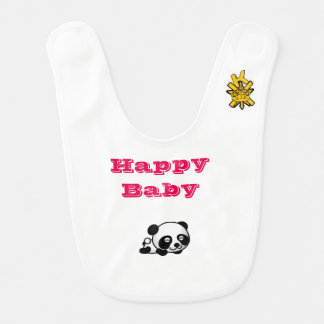 Cute Panda and Penguin Baby Bib