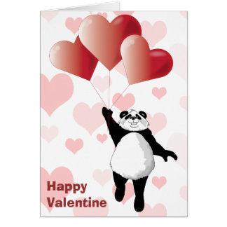 Cute Panda & Balloons Valentine Card