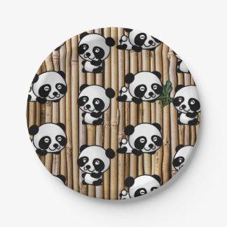 Cute Panda & Bamboo Print Paper Plate