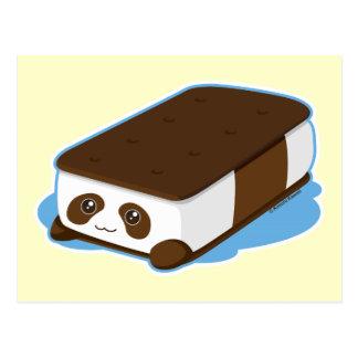 Cute Panda Bar Ice Cream Postcard