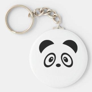 Cute panda basic round button keychain