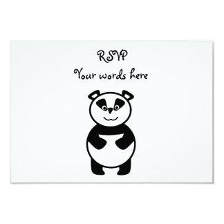 """Cute panda bear 3.5"""" x 5"""" invitation card"""