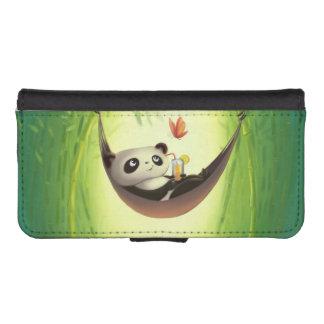 Cute panda bear & butterfly phone wallet