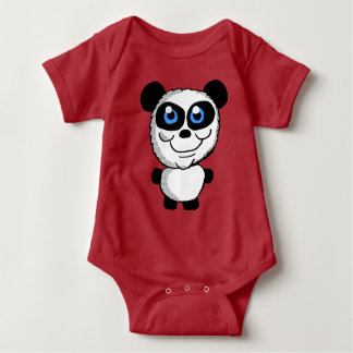 Cute Panda bear Cartoon Baby Bodysuit
