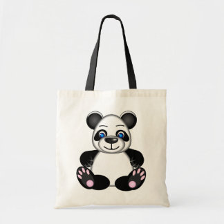 Cute Panda Bear Cartoon Tote Bag