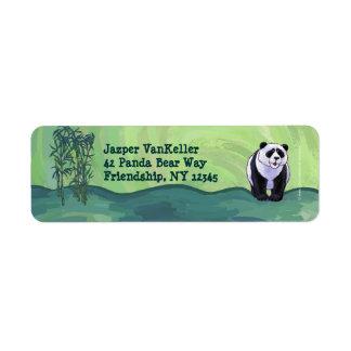 Cute Panda Bear Front Return Address Label