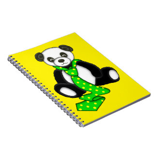 Cute Panda Bear Spiral Notebook