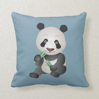 cute panda bear throw pillow
