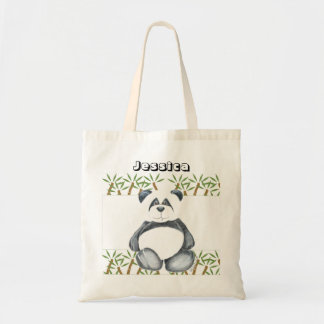 Cute Panda Bear Tote Bag