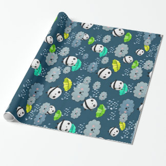 Cute Panda Bears Pattern Wrapping Paper