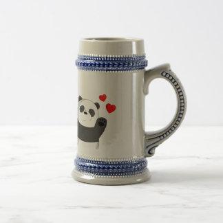Cute panda beer stein
