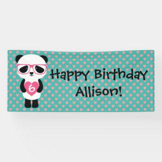 Cute Panda Birthday Banner