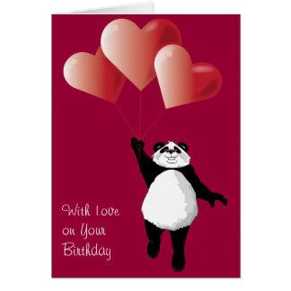 Cute Panda Birthday Card