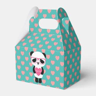 Cute Panda Birthday Favor Box
