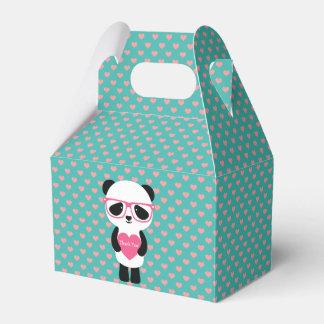 Cute Panda Birthday - Thank You! Favor Box
