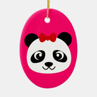 Cute Panda Ceramic Ornament