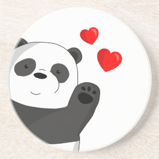 Cute panda coaster