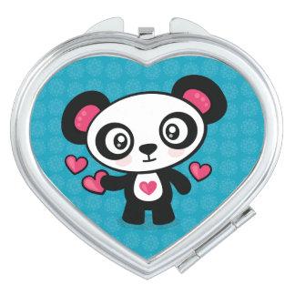 Cute Panda compact mirror