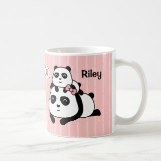 Cute Panda Cub and Mommy Kids Personalized Mug