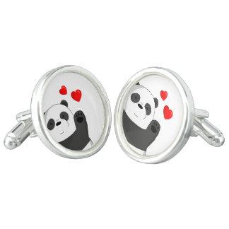 Cute panda cuff links