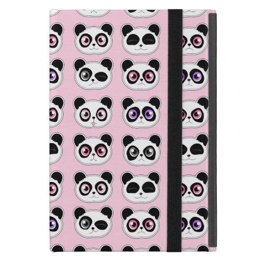 Cute Panda Expressions Pink Case For iPad Mini