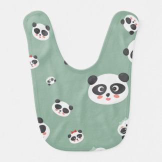 Cute Panda faces Baby bib