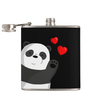 Cute panda hip flask