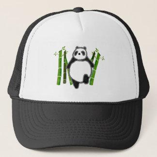 Cute panda ink drawing trucker hat