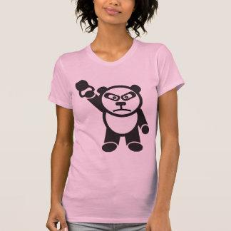 Cute Panda - Kettle Bell Snatch -Bamboo Strong Tshirts