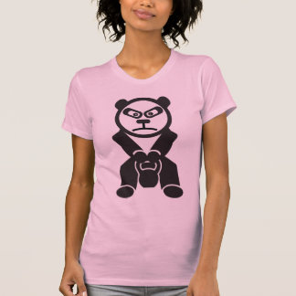 Cute Panda - Kettle Bell Swing -Bamboo Strong Tee Shirt