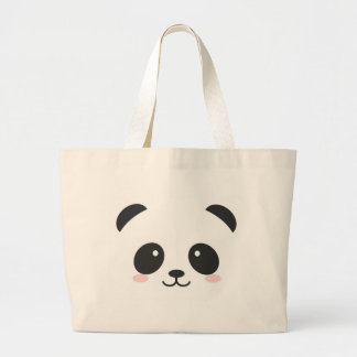 Cute Panda Large Tote Bag