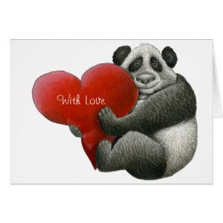 Cute Panda Note Card