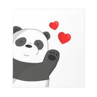 Cute panda notepad