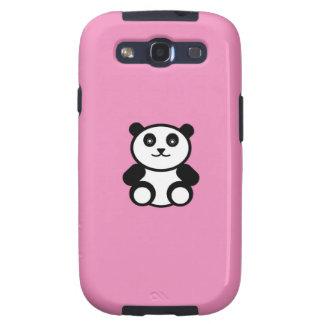Cute Panda on Pastel Pink Galaxy S3 Covers