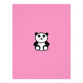 Cute Panda on Pastel Pink Letterhead