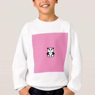 Cute Panda on Pastel Pink Sweatshirt