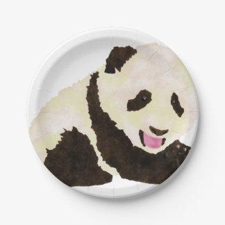 Cute Panda Paper Plate